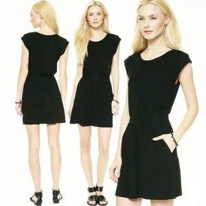 Theory Mini Flare Ettia Ribbed Stretchy Dress